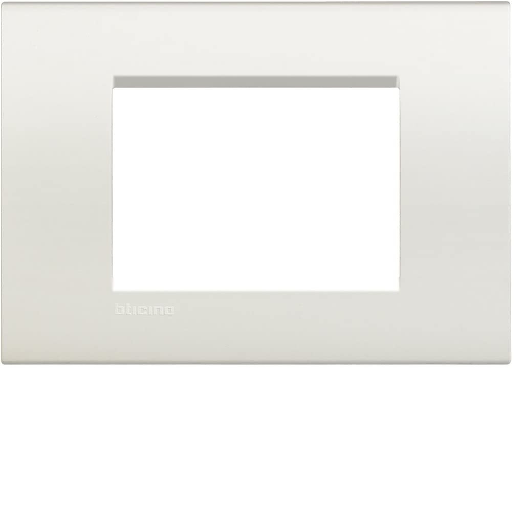PLACA RECTANGULAR COLOR BLANCO 3 MÓD.