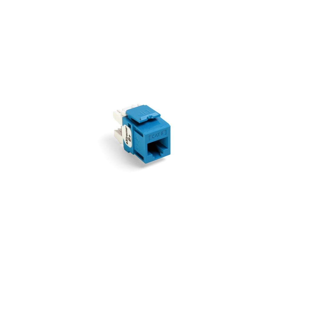 JACK MODULAR QUICKPORT CAT6 AZUL