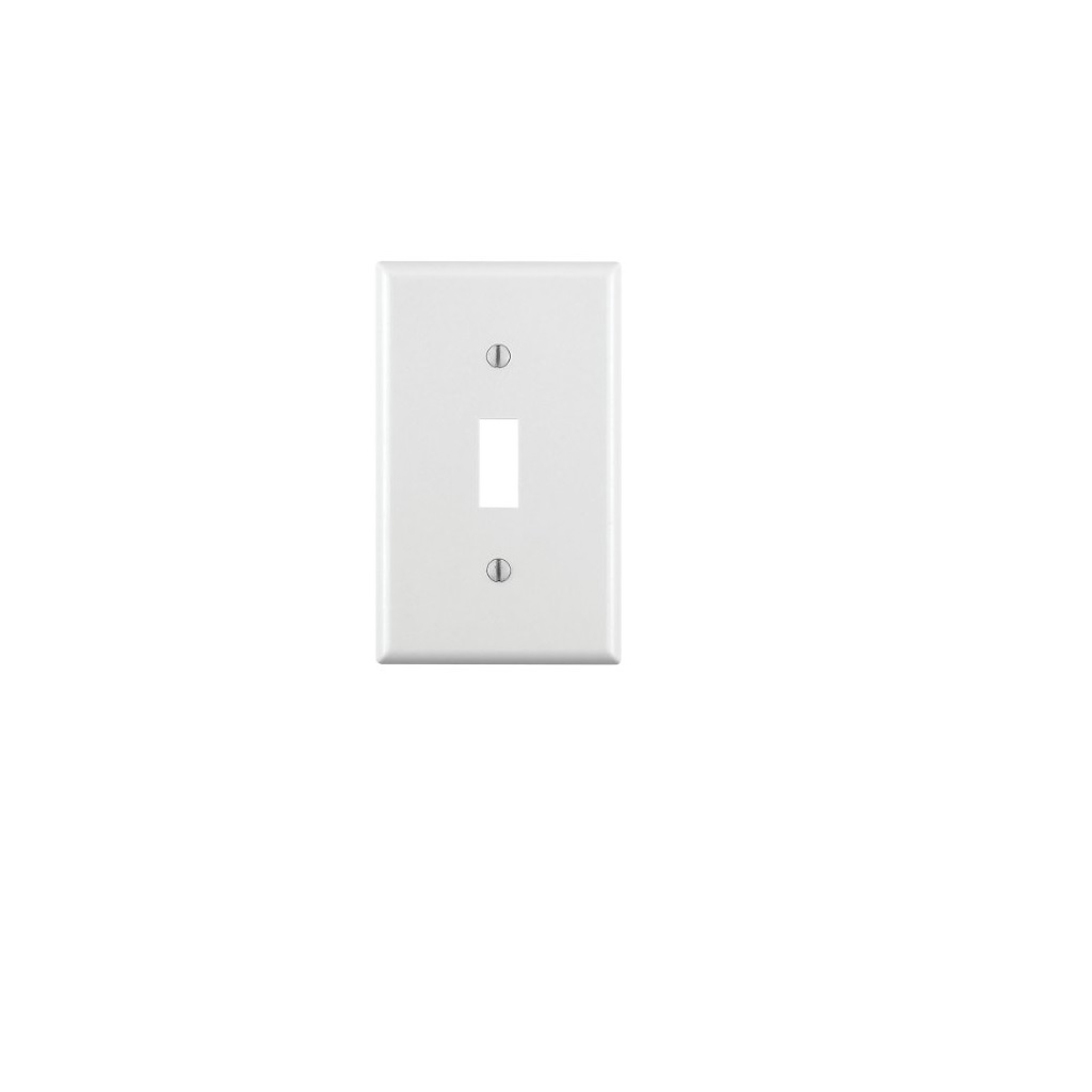 PLACA APAGADOR TOGGLE 1 UNIDAD BLANCO